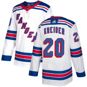 Youth Authentic New York Rangers Chris Kreider White Away Official Adidas Jersey