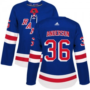Women's Authentic New York Rangers Glenn Anderson Royal Blue Home Official Adidas Jersey
