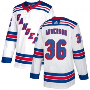 Women's Authentic New York Rangers Glenn Anderson White Away Official Adidas Jersey