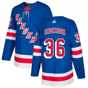 Youth Authentic New York Rangers Glenn Anderson Royal Blue Home Official Adidas Jersey