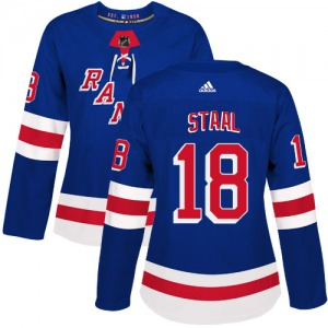 Women's Authentic New York Rangers Marc Staal Royal Blue Home Official Adidas Jersey