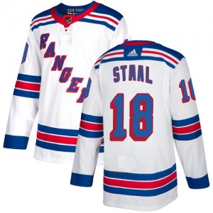 Women's Authentic New York Rangers Marc Staal White Away Official Adidas Jersey