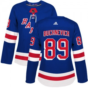 Women's Authentic New York Rangers Pavel Buchnevich Royal Blue Home Official Adidas Jersey