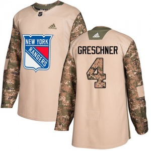 Youth Authentic New York Rangers Ron Greschner Camo Veterans Day Practice Official Adidas Jersey