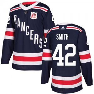 Adult Authentic New York Rangers Brendan Smith Navy Blue 2018 Winter Classic Official Adidas Jersey