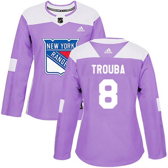 Women's Authentic New York Rangers Jacob Trouba Purple Fights Cancer Practice Official Adidas Jersey
