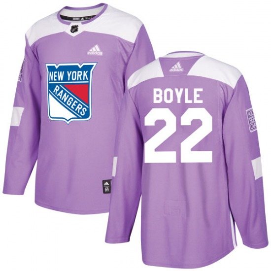 Youth Authentic New York Rangers Dan Boyle Purple Fights Cancer Practice Official Adidas Jersey