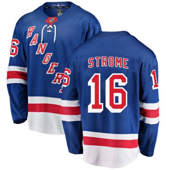 Youth Breakaway New York Rangers Ryan Strome Blue Home Official Fanatics Branded Jersey