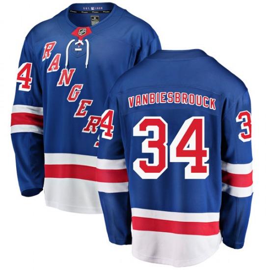 Youth Breakaway New York Rangers John Vanbiesbrouck Blue Home Official Fanatics Branded Jersey